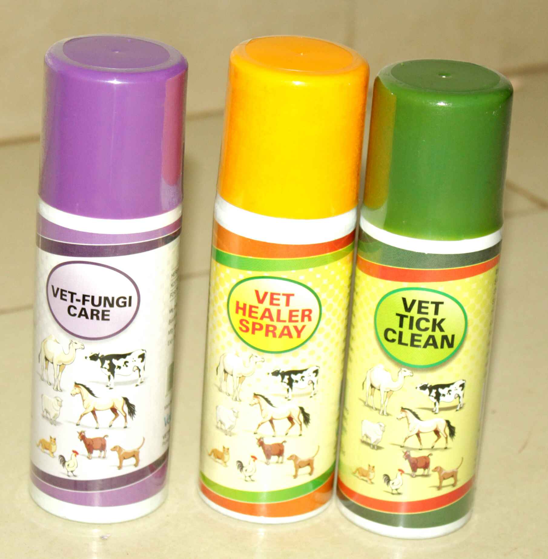 VET FUNGAL CARE, VET HEALER SPRAY and VET TICK CLEAN