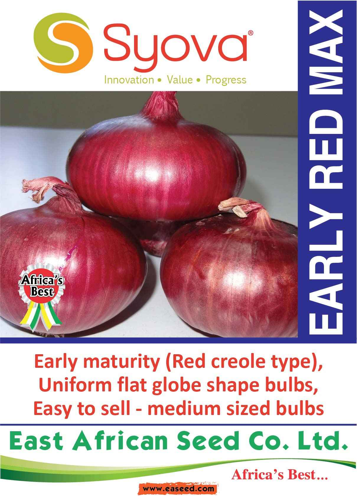 EARLY RED MAX Onion Seeds