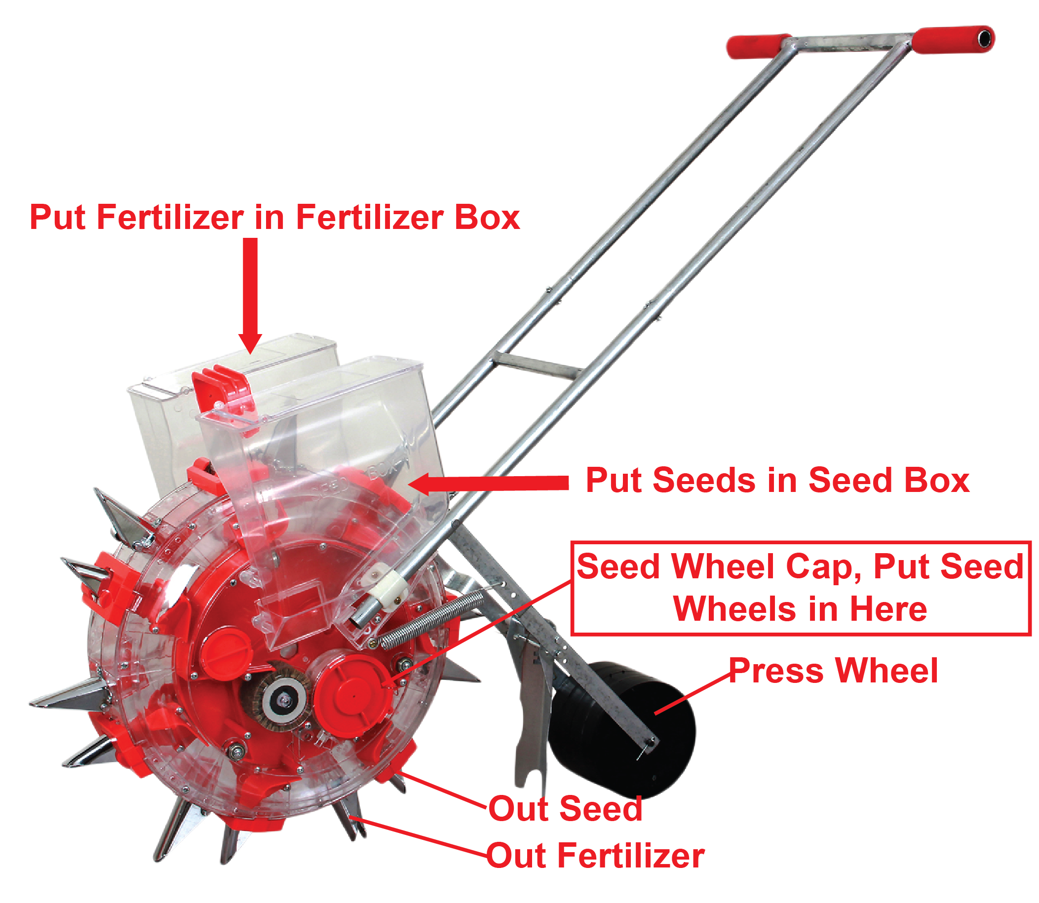 Seed planter (with fertilizer box)