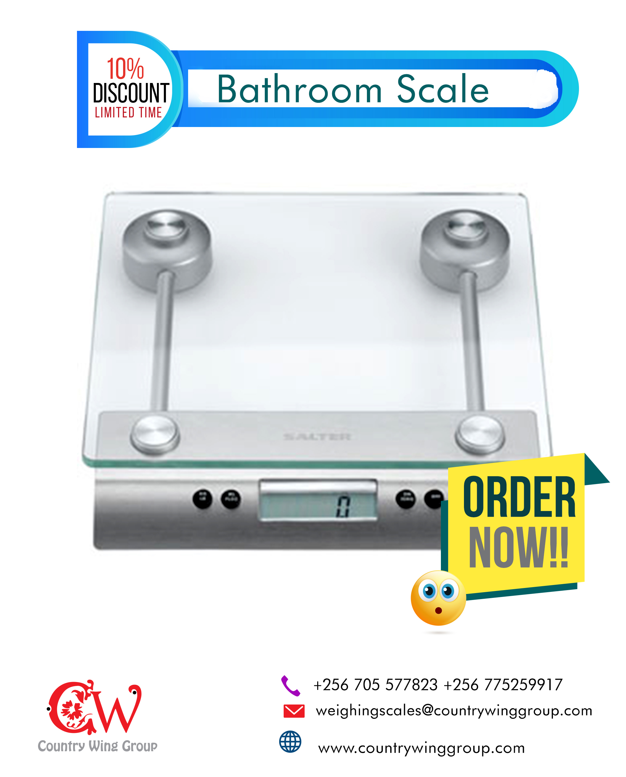 Glass Health Scale, 150kg